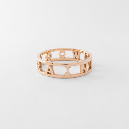 Wide Letter Ring